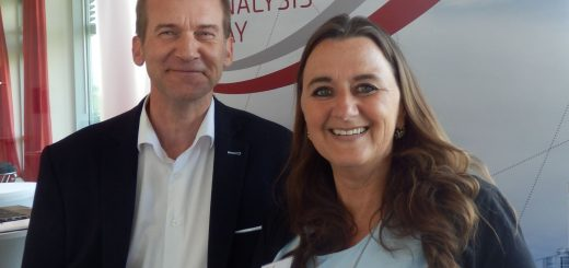 BA Day 2018: Sabine Ostlender, managing director of masVenta Business GmbH, and Robert Baumgartner, PMP, VP Finance & Sponsoring of PMICC