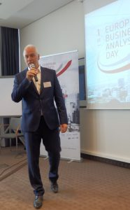 BA Day 2018: Rainer Wendt, managing director, masVenta Business GmbH. introducing the 1st European BA Day 2018.