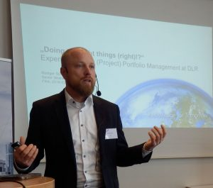 BA Day 2018: Ruediger Sueß, Senior Strategy Analyst, German Aerospace Center (Deutsches Zentrum für Luft- und Raumfahrt), shared latest thoughts on portfolio management.