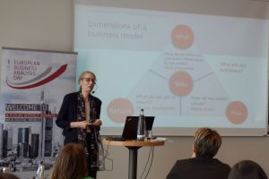 BA Day 2018: Ursula Meseberg, Co-founder and Managing Director of Microtool GmbH, Berlin, elaborated on agile business analysis.