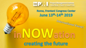 inNOWation Conference @ PMI Central Italy on June 13+14, 2019 @ Frentani Congress Center